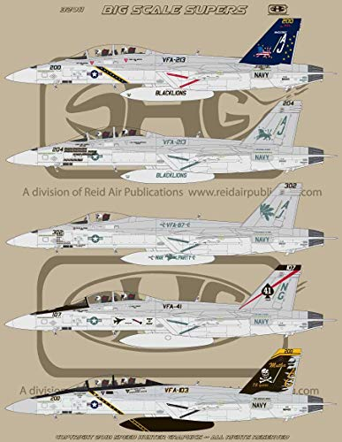 Speed Hunter Graphics 1/32 Scale Decal F-18E and F Super Hornet Big Scale Supers - SHG32011