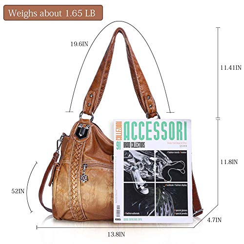 Buy leather hobo bags for women brown