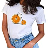 Sale Clearance Cute Short Sleeve T Shirts,Women's Plus Size Cartoon Expression Shirt Spring Summer Funny Blouse Tops