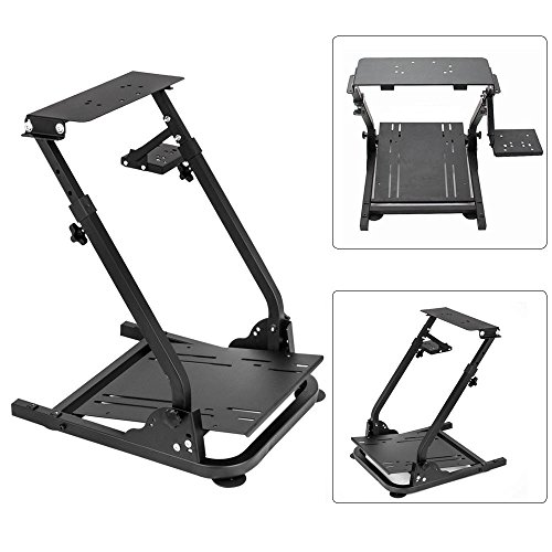 Racing Brackets - Simulation Driving Bracket Racing Simulator Steering Wheel Stand,Racing Frame Pro Cockpit for Logitech G25 G29 G27 (Black)