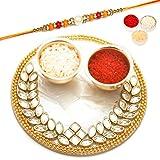 Ghasitaram Gifts Rakhi Gifts Rakhi Pooja Thalis - The Perfect Bond Pooja Thali with Diamond Rakhi