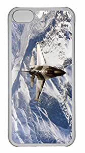 iPhone 5C Case, Personalized Custom F 16 Aggressor for iPhone 5C PC Clear Case