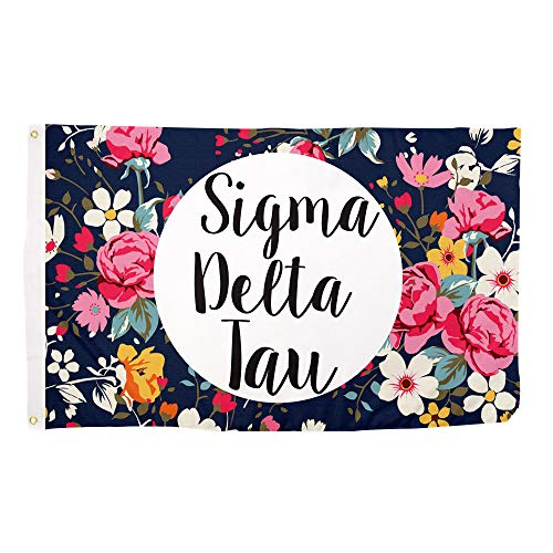 Desert Cactus Sigma Delta Tau Floral Pattern Letter Sorority Flag Greek Letter Use as a Banner Large 3 x 5 Feet Sig Delt For Sale