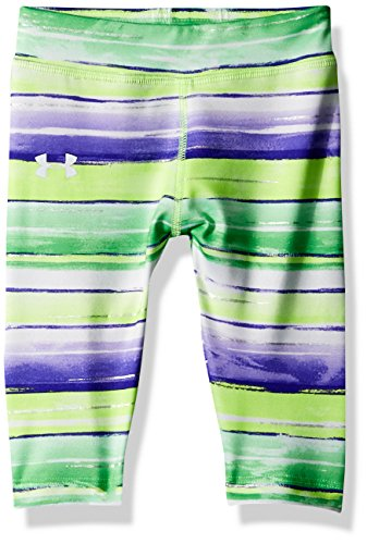 Lime Green Capri Pants (Under Armour Baby Girls Water Stripe Capri, Quirky Lime, 18M)