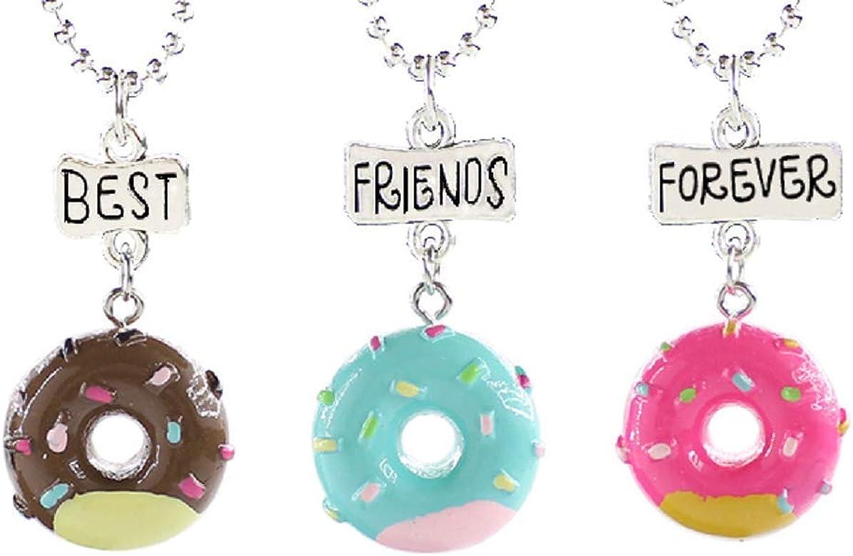 Lovelegis Collares De Tres Chicas Amistad Mejores Amigos Para Siempre Mejores Amigos Para Siempre Para 3 Kawaii X 3 Bff Donas Navidad Multicolor Amazon Es Joyeria