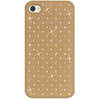 Amzer AMZ93932 Diamond Lattice Snap On Hard Shell Case for iPhone 4/4S (All Carriers) - 1 Pack - Retail Packaging - Khaki