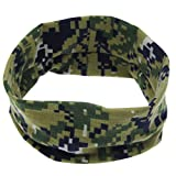 Fullkang Cute Baby Camouflage Hair Ring Elastic Cloth Headband (Army Green)