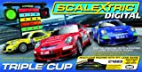 Scalextric 1:32 Digital Triple Cup Slot Car Race Track Set x3 Porsche 997 C1223T