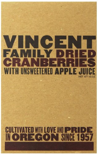 Vincent Family Dried Cranberries  ,10 oz (Dried Cranberries Sweetened)