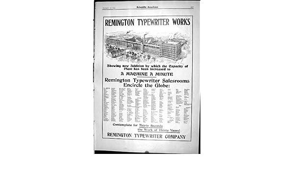 La Impresión Antigua de la Máquina De Escribir de Remington del Anuncio Trabaja al Americano Científico 1904: Amazon.es: Hogar