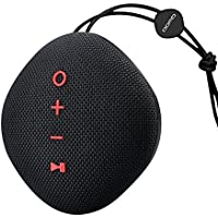 Bluetooth Speaker, Qwoo Bluetooth 4.2 Speakers IPX5 Waterproof Portable Speaker Built-in Mic Indoor/Outdoor Stereo Speaker for Hands-Free Calling, Sports, Home, Beach, Climbing, Travel and Shower