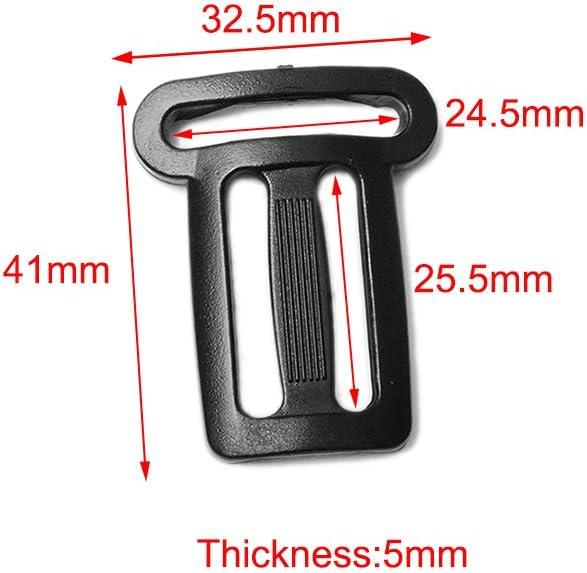 CooBigo 5pcs Pack 1 1 Plastic Multi-Function Slider Tri-Glide Adjust Buckle for Backpack Strap #FLC431-25B