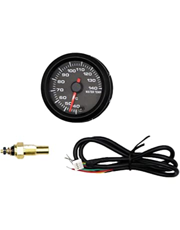 Homyl Car 2 52mm Water Temp Gauge Meter Temperature LED Backlight Light Dust and Waterproof Rating IP67 316 Stainless Steel