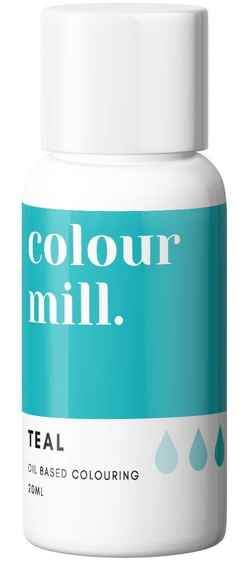 Colour Mill Oil-Based Food Coloring, 20 Milliliters Teal