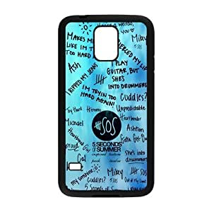 Danny Store 5SOS Protective TPU Rubber Back Fits Cover Case for Samsung Galaxy S5