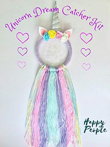 Full Size Make Your Own Unicorn Dream Catcher Kit Kids Craft Gifts for girls from HappyPeople