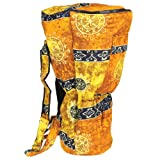 X8 Drums X8-BG-Gold-L Djembe Backpack Bag with Gold Celestial Design, Large