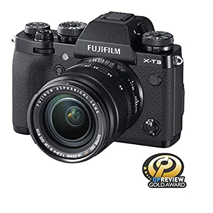 """Fujifilm X-T3 26.1 MP Mirrorless Camera with XF 18-55 mm Lens (APS-C X-Trans CMOS 4 Sensor, X-Processor 4, EVF, 3"""" Tilt Touchscreen, Fast & Accurate AF, Face/Eye AF, 4K/60P Video) - Black 2"""