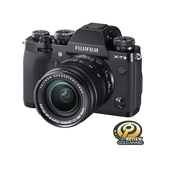 "RetinaPix Fujifilm X-T3 26.1 MP Mirrorless Camera with XF 18-55 mm Lens (APS-C X-Trans CMOS 4 Sensor, X-Processor 4, EVF, 3"" Tilt Touchscreen, Fast & Accurate AF, Face/Eye AF, 4K/60P Video) - Black"