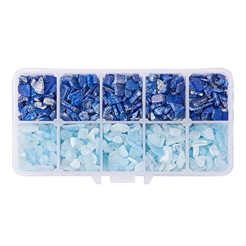 Lazuli Chip Lapis Blue (PandaHall Elite 1 Box Tumbled Chip Gemstone Beads Crushed Pieces Undrilled Stone for Jewelry Making Natural Lapis Lazuli and Natural Aquamarine)