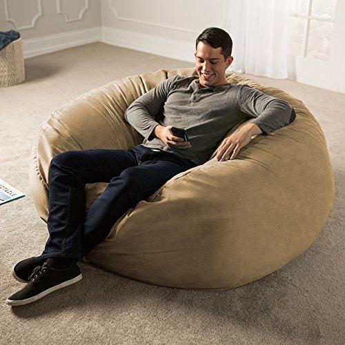 Jaxx 5 Foot Bean Bag Chair, Camel