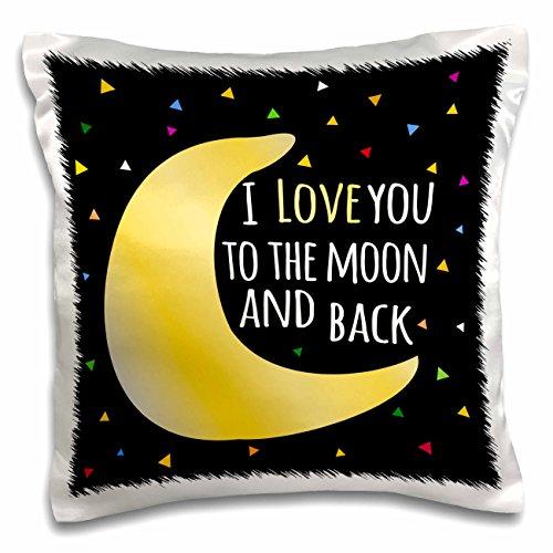 3dRose Back Cute Triangle Stars Pillow pc 202102 1