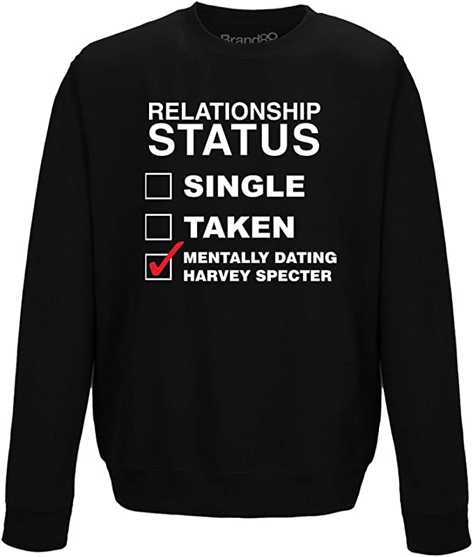 Brand88 Mentally Dating Harvey Specter Adult/'s Printed Hoodie