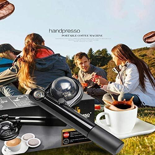 Machine à café portable concentré extérieur Voyage pression manuelle Machine à café Mini Ménage cafetière HUERDAIIT