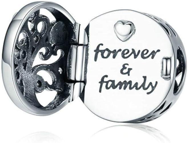 charm pandora originale famiglia per sempre