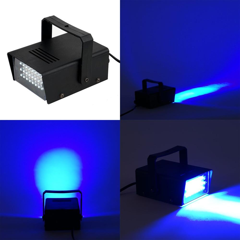 Efavormart 35 Watt Blue 24 LEDs Mini Strobe Flash Light With Speed Control For Wedding Birthday Party Event Decoration