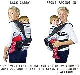 NimNik Baby Sling Carriers Hipseat - Ergonomics Front 2 Back Carrier, Black Bild 4