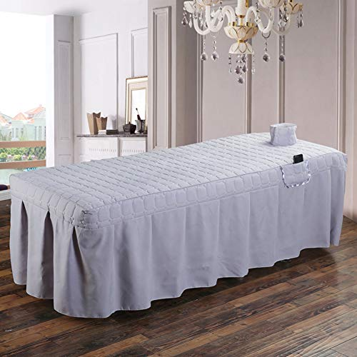 AMY Premium Massage Table Sheet Sets, Massage Table Skirt Spa Bed Cover Linen Valance Sheet Custom Made Salon-P 190x80cm(75x31inch)