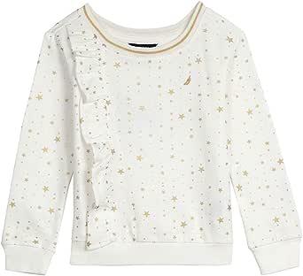 Nautica Girls' Toddler Long Sleeve Holiday Fashion Tops