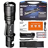 Odepro New Kit Edition Handheld LED Tactical Flashlights Double Switch 6 Light Modes IP68 Water Resistant Portable Flashlight, Durable Tool Box Package