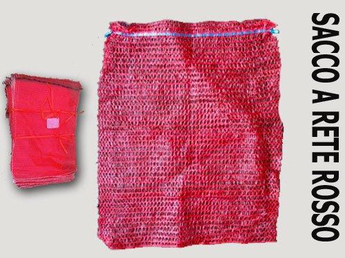 SACCHI RASCHEL A RETE ROSSO di qualit/à cm stock 100 pezzi multiuso 40 x 60