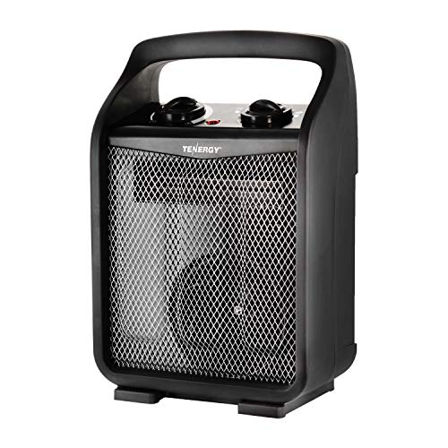 - Tenergy 1500W/750W Portable Space Heaters with Adjustable Thermostat, Recirculation Air Electric Fan Heater with Auto Shut Off Switch, Tip-over & Overheat Protection
