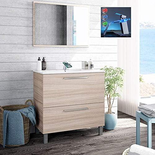 Hogar Decora Pack Baño City. Mueble de Lavabo Cerámico + Espejo + ...