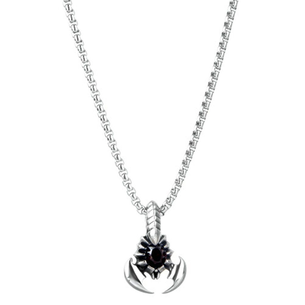 AMDXD Jewelry Stainless Steel Pendant Necklace Women Pendant Necklace Link Chain Necklace Silver 45CM