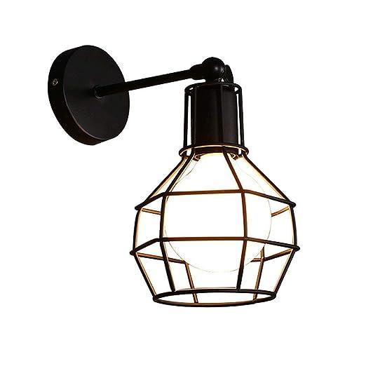 FNCUR Lámpara De Pared Jaula LED Vintage American Village E27 ...