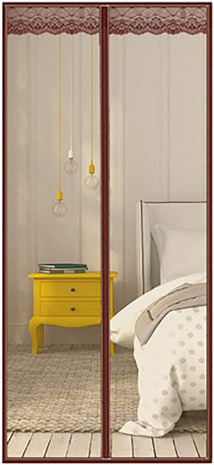 HUTUpc Puertas de Pantalla magnética Blanco, Puerta de Pantalla magnética para Puertas correderas Sala de Estar para niños,Brown,140 * 200cm: Amazon.es: Hogar
