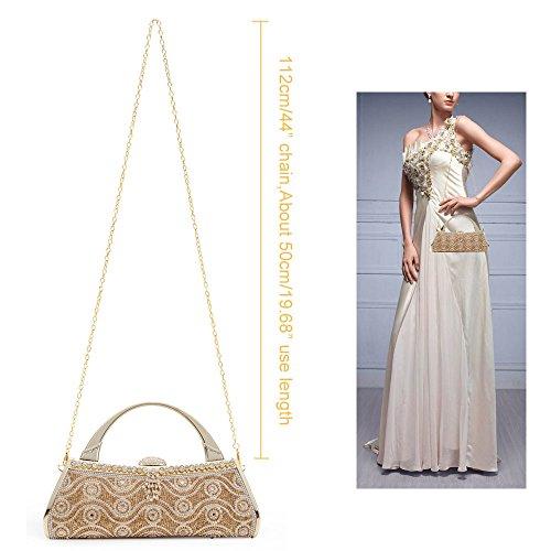 Wedding Gold Purse Womans Party Bags Frame Hard Case Cluthc Bag Evening Bag Tote Metal Prom 5 Handbag Bridal AxqtaqF8W