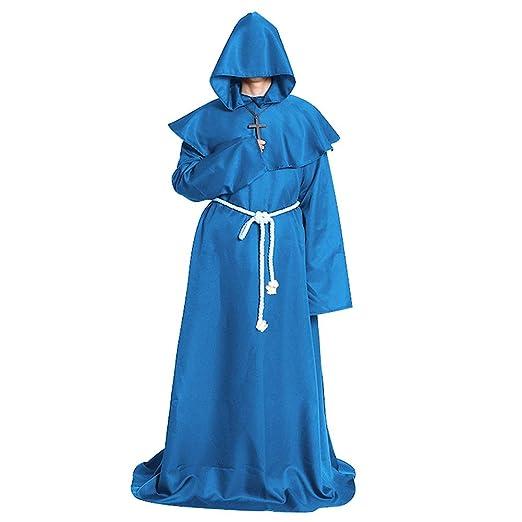 Ohwens Halloween Cosplay Monje Capa Monje Medieval Traje de ...