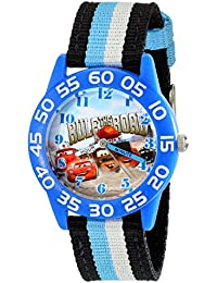 Kids' W001953 Blue Cars Character Watch with Tricolored Band