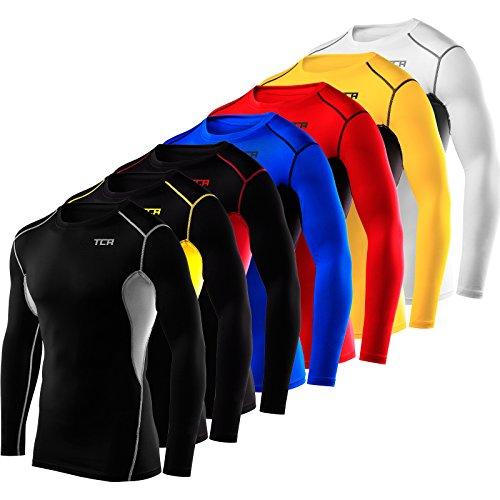 Langärmliges Total Compression Advanced HyperFusion Basisschicht-Unterhemd Funktionsunterwäsche Armour Kompressionsshirt für Männer und Jungen - Crew Neck - K/G X