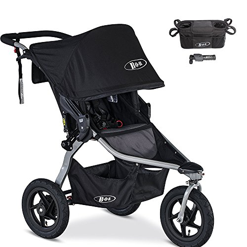 BOB Rambler Jogging Stroller & Handlebar Console with Tire Pump Set by Britax USA