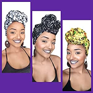 African Royalty African Headwrap Collection (3 headwraps)