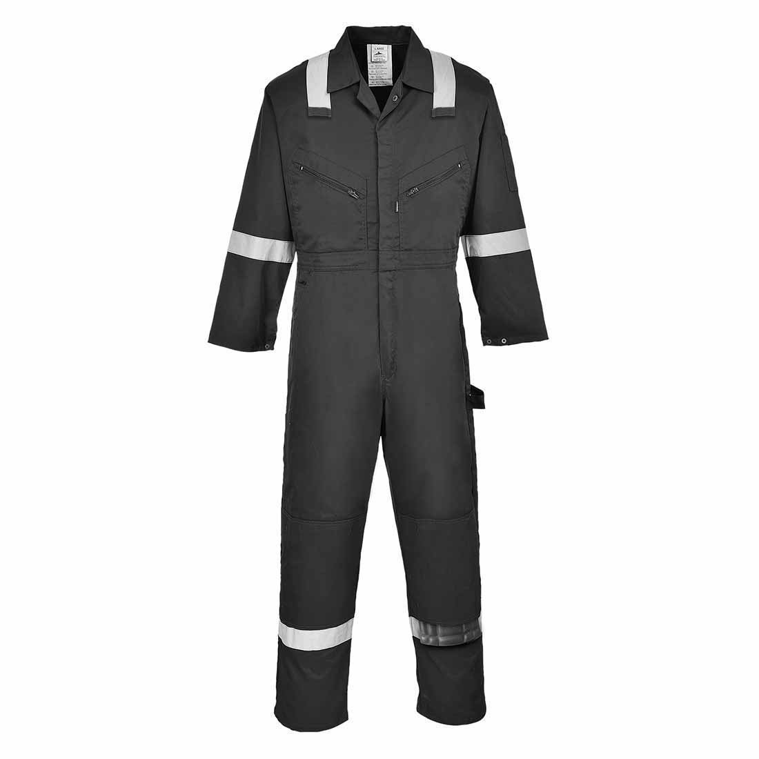 sUw - Iona Hi-Vis Safety Workwear Coverall Boilersuit Navy Small F813NARS