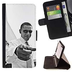 Momo Phone Case / Flip Funda de Cuero Case Cover - América Patriotismo Usted Negro - LG OPTIMUS L90