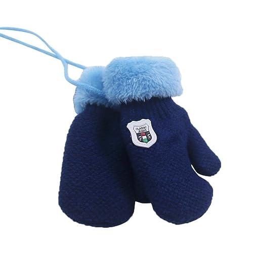 RETUROM Unisex bebé mantener guante de cachemira caliente de punto