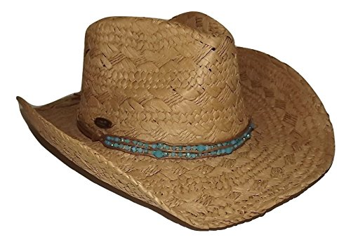 cappelli-dorfman-womens-straw-cowboy-hat-turquoise-color-beaded-band-one-size